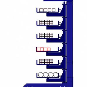 Zwenkarmstelling - Twee koloms - Enkele uitvoering - 800mm