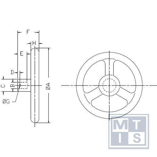 SR 5 Handwiel, Sheet Metal