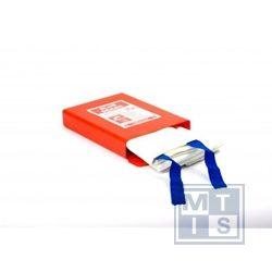 Blusdeken: Drielaags 180x180cm, hardbox