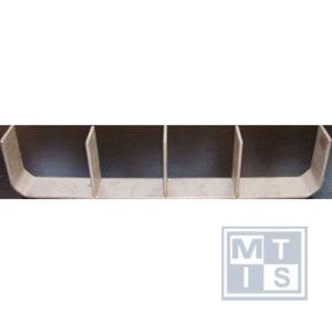 Accessoire vakverdeler 4-vaks tbv materiaalgoot, staal