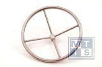 LHW 350 Handwiel, stainless steel, 4 spaken