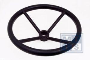 LHW 450 Handwiel, carbon steel, 4 spaken