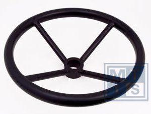LHW 600 Handwiel, carbon steel, 4 spaken