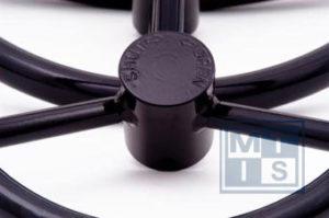 LHW 1000 Handwiel, carbon steel, 6 spaken