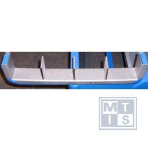 Accessoire vakverdeler 4-vaks tbv arm, RVS